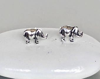 Silver Elephant Studs, Earrings, Cute Ear Studs, Bohemian Earrings, Simple Minimalist Ear Studs, Gifts For Her, E205