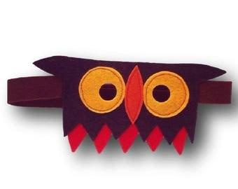 Kids costume accessory - masks forest animals - Hildegarde the OWL - felt - OWL