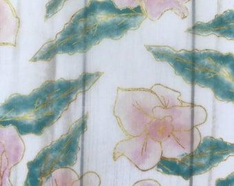 Gold Pink Garden // Vellum Ephemera