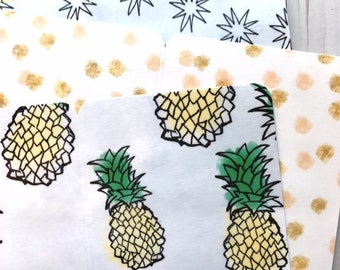 Pineapples // Double Sided Planner Dividers Personal Wide TN Travelers Notebook Ring Bound