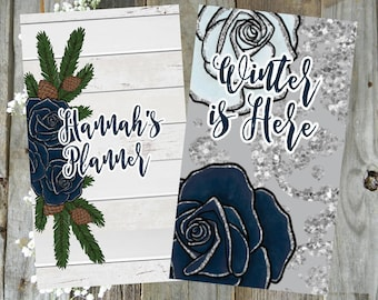 Winter Is Here // Double Sided Planner Dashboard TN Travelers Notebook Ring Bound Planner Divider