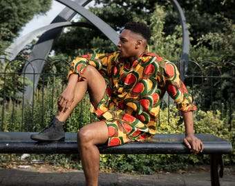 African Outfit - African Suit - Wax shirt - african print Two piece - wax Suit - african Clothing - Frdtival Outfit