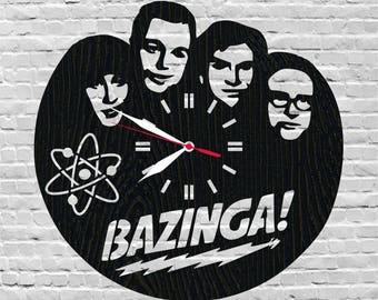 Big bang theory clock/Bazinga/Tv show/Christmas gift for him/Physics gift/Birthday gift for women/Penny/The big bang theory/Sheldon cooper