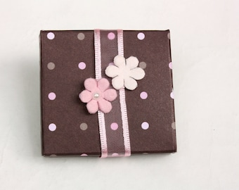 Baby shower favor boxes for a girl - 5 items per order