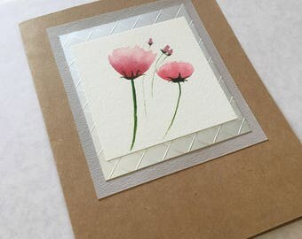 Handmade Greeting Card- Pink Blossoms