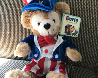 Disney Uncle Sam Duffy Mickey Mouse Bear