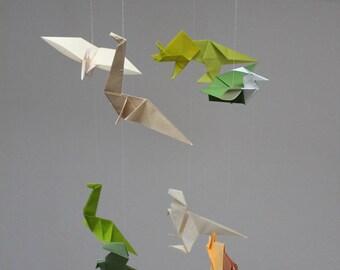 Mobile dinosaur, origami mobile, mobile paper mobile child, decorative mobile