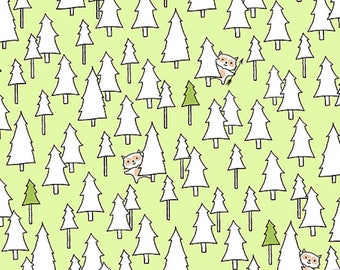 Ink & Arrow Camp S'More, Trees  Green, Camping Quilt, Modern Quilt, Modern Fabric, Fun Fabric
