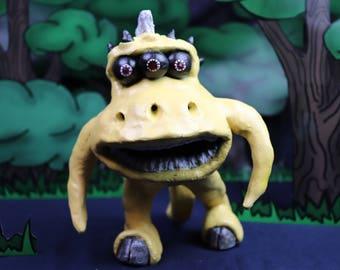 KRUG!: Sci Fi creature handmade sculpture fantasy MTO, Custom Made Monster