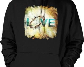 Love, Crown of Thorns Hooded Sweatshirt, NOFO_01062