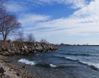 "Lake Ontario Photography, Fine Art Photography, Landscape Print ""Depth"""