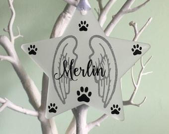 Pet Memorial Ornament, Pet Memorial Gift, Pet Loss Bauble, Personalised Pet Loss Bauble, Pet Loss Ornament, Personalised Pet Decoration.