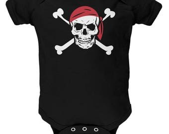 Halloween Jolly Roger Pirate Costume Baby One Piece