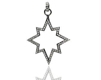 SDC1949 Star shape cutout Pave Diamond Charm
