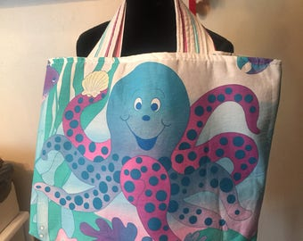 Octopus beach bag | Etsy