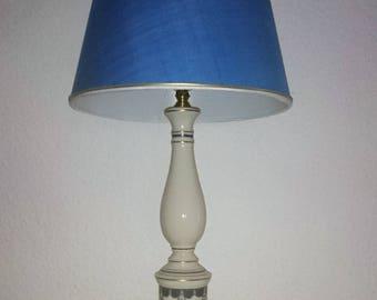 Exclusive table lamp Art Nouveau of antique Porzellenfuß