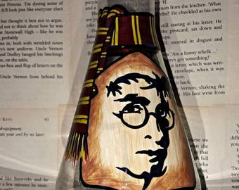 Harry Potter inspired Potion Bottle With Gryffindor Scarf Detail