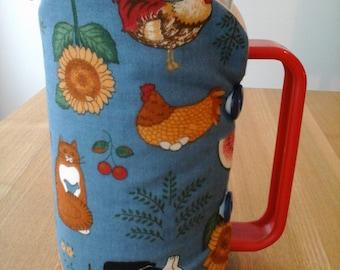 Cafetiere cosy, coffee pot cosy, cafetiere, cosy, coffee cosy, blue