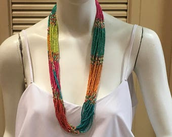 Tropical Beaded Necklace