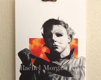 Halloween, Michael Myers, Knife, Art Print, Slasher, Cult Classic, John Carpenter