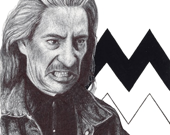 Bob, Twin Peaks, 1990s, Art Print, Geometric, Black Lodge, David Lynch, Frank Silva