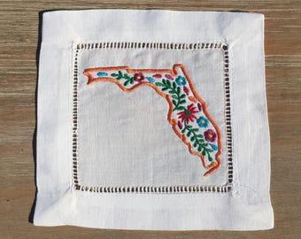 Oaxaca Florida Linen Cocktail Napkin Set