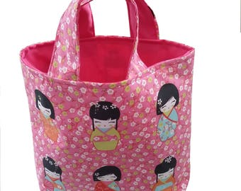 "Bag for girl ""Chinese girl"" pink Handmade fabric"