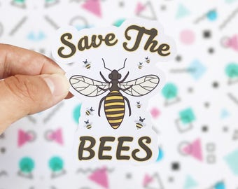 Save the Bees Sticker - Cute Save the Bees Campaign Sticker - Car Stickers - Cute Bee Colony Honey Stickers - Bees Laptop Computer Decals