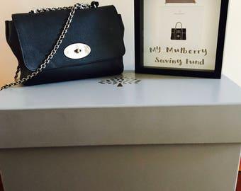 Mulberry bag lover money box frame