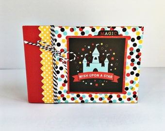 Disney Premade Scrapbook Album, Disney Mini Album, Disney Photo Album, Family Vacation Scrapbook, Travel Scrapbook, Vacation Photo Album