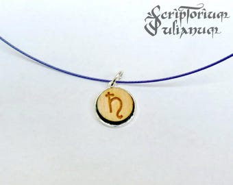 Saturn choker, Saturn necklace, Capricorn gift, January birthday gift, girlfriend gift, party jewelry, wooden pendant, Valentine's day gift