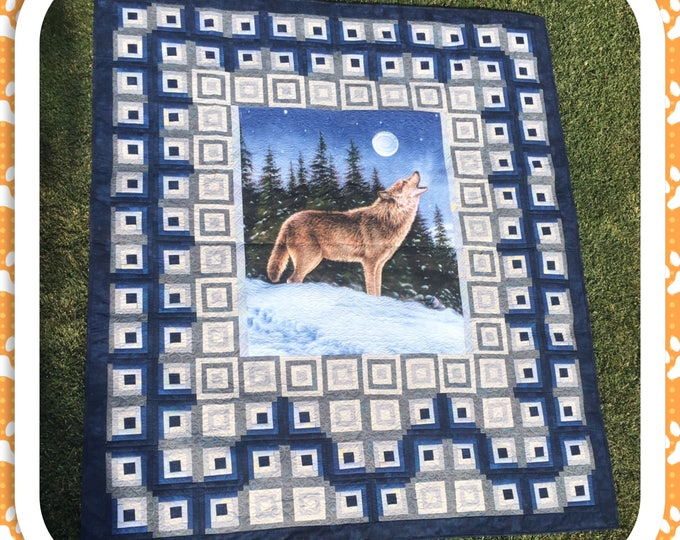 Lone Wolf Quilt, Wildlife, Wolves
