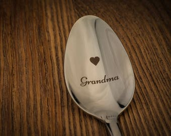 Personalized spoon, custom silverware, baby announsement, coffee spoon,custom grandma spoon, new grandma gift, personalize spoon