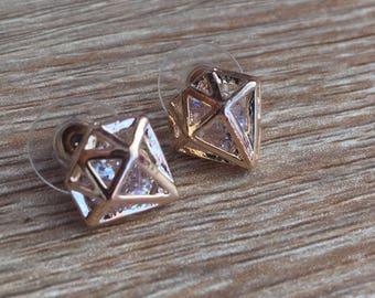Diamond Shaped Studs