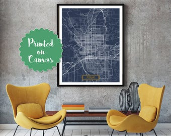 SPOKANE Washington City Map Spokane Washington Art Print Spokane Washington poster Spokane map art United States of America Jack Travel
