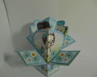 Flower Girl Pop Up Card