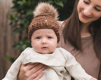 Crochet PATTERN Fair Isle Look Baby Hat, PDF