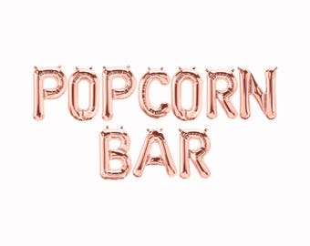 Popcorn Bar Balloons || party decor bachelorette photo prop wedding sweets table decor bride to be engagement party decoration birthday bar