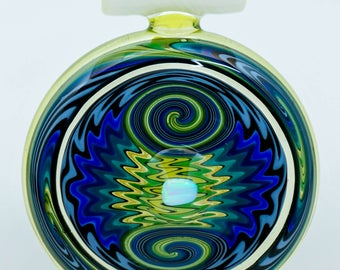 Cajun & Marni Glass Pendant / UV / Glow In The Dark / Heady