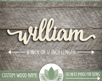 Custom Wood Word Sign, Wooden Name, Custom Laser Cut Wood Name, Nursery Decor, DIY Laser Cut Wood Shapes, lowercase letters