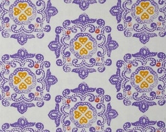 "ON SALE Ty Pennington  for Westminster Rowan  ""Impressions""  Delhi  Purple Cotton Sateen 55/56"" Wide BTY"