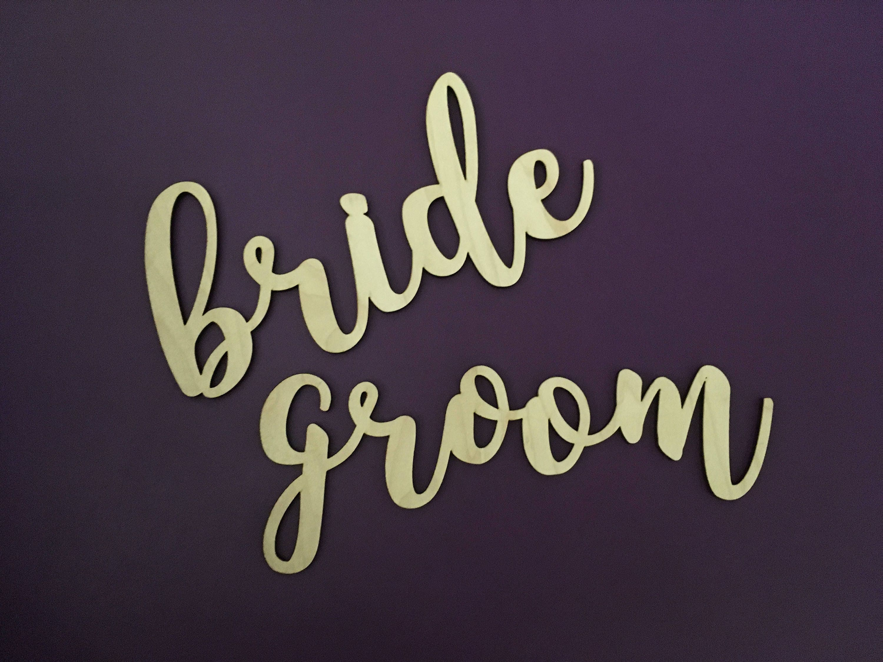 Sturdy Bride Groom Chair Sign Wedding Signs Decorations
