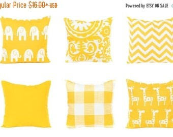 SALE ENDS SOON Yellow Pillows, Yellow Decorative Pillow, Yellow Nursery Decor, Yellow Accent Pillow, Baby Pillow, Yellow Lumbar Pillow, Yell
