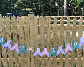 "Mermaid ""HAPPY BIRTHDAY"" Banner"