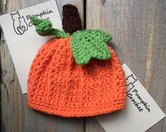 Pumpkin spice, newborn hat, pumpkin hat, newborn pumpkin hat, newborn crochet hat, fall newborn prop, newborn prop, pumpkin newborn prop hat