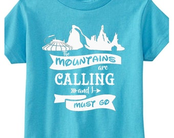 Toddler Disney Shirts The Mountains are calling Shirts Disney Mountain Shirts Disneyland Shirts Disney World Shirts Magic Kingdom Shirts