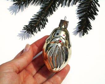 Gold Christmas ornament animal decor seal figurine mercury glass ornament vintage Christmas tree decor animal lover gift holiday ornament