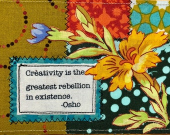 Quilted postcard - creativity