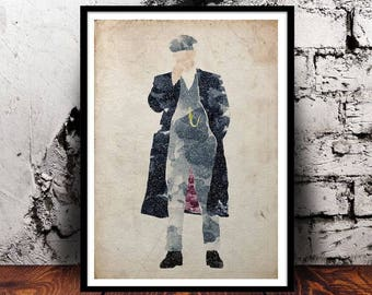 Peaky Blinders Tommy Shelby Thomas Shelby (Cillian Murphy) A4 watercolour print unique gift for PeakyFans Birmingham