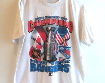 New York Rangers - 1996 - Starter - Stanley Cup Champions - Tshirt